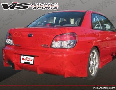 VIS Racing - Subaru WRX VIS Racing Z Speed Rear Bumper - 04SBWRX4DZSP-002