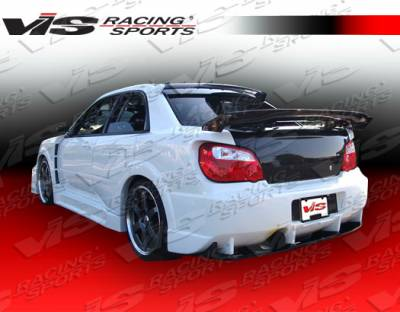 VIS Racing. - Subaru WRX VIS Racing Z Speed Widebody Rear Bumper - 04SBWRX4DZSPWB-002