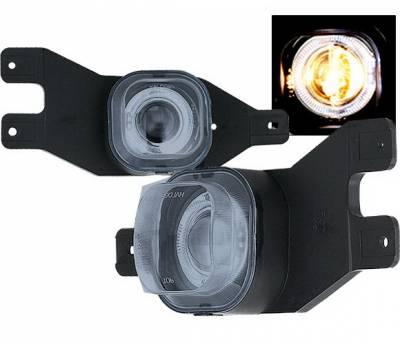 4 Car Option - Ford F250 4 Car Option Halo Projector Fog Light Kit - Smoke - LHFP-FF25099SM-WJ