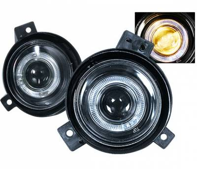 4 Car Option - Ford Ranger 4 Car Option Halo Projector Fog Light Kit - Clear - LHFP-FR01C-WJ