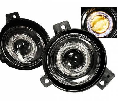 4 Car Option - Ford Ranger 4 Car Option Halo Projector Fog Light Kit - Smoke - LHFP-FR01SM-WJ