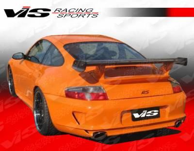 VIS Racing - Porsche 911 VIS Racing D3 Conversion Rear Bumper with Dual Exhaust - 05PS9972DD3CON-002