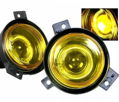 4 Car Option - Ford Ranger 4 Car Option Halo Projector Fog Light Kit - Yellow - LHFP-FR01YL-WJ