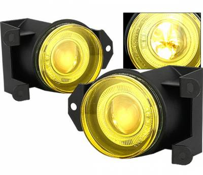 4 Car Option - GMC Yukon 4 Car Option Halo Projector Fog Light Kit - Yellow - LHFP-GY00YL-WJ