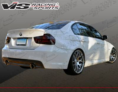 VIS Racing - BMW 3 Series 4DR VIS Racing M-Tech Type 2 Rear Bumper with Dual Exhaust - 06BME904DMTH2-002