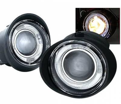 4 Car Option - Nissan Murano 4 Car Option Projector Fog Light Kit - Clear - LHFP-NA02C-WJ