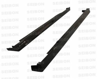 Seibon - Acura RSX Seibon TR Style Carbon Fiber Side Skirts - SS0204ACRSX-TR