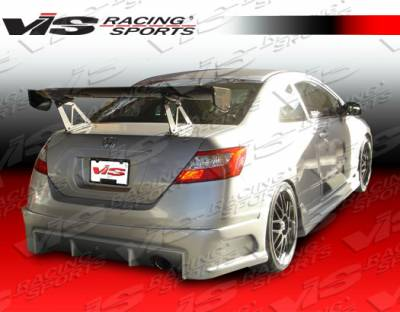 VIS Racing - Honda Civic 2DR VIS Racing Laser Rear Bumper - 06HDCVC2DLS-002