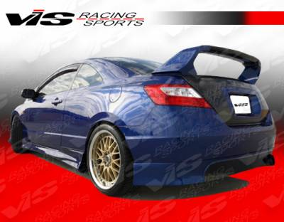 VIS Racing - Honda Civic 2DR VIS Racing Type R Rear Lip - 06HDCVC2DTYR-012
