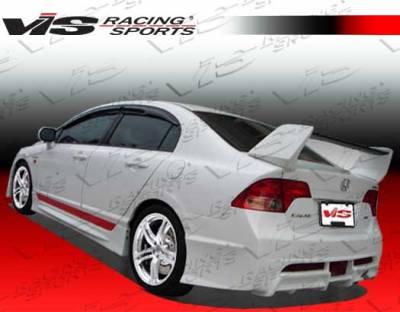 VIS Racing - Honda Civic 4DR VIS Racing I-Max Rear Bumper - 06HDCVC4DIMAX-002