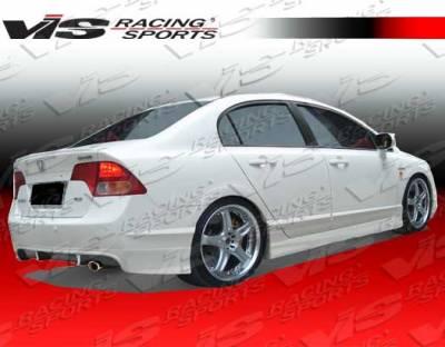 VIS Racing. - Honda Civic 4DR VIS Racing Techno R-1 Rear Lip - 06HDCVC4DTNR1-012P