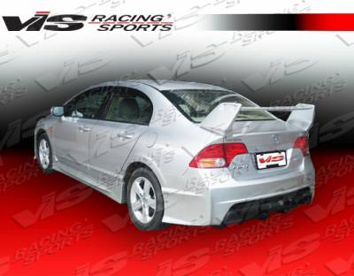 VIS Racing - Honda Civic 4DR VIS Racing Techno R-2 Rear Bumper - 06HDCVC4DTNR2-002