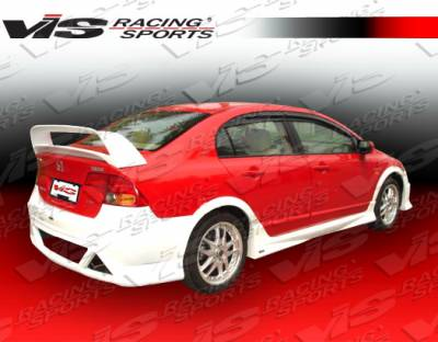 VIS Racing - Honda Civic 4DR VIS Racing Type R Concept Rear Bumper - 06HDCVC4DTRC-002