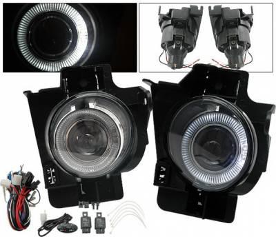 4CarOption - Nissan Altima 4CarOption Halo Projector Fog Light Kit - LHFP-NA082