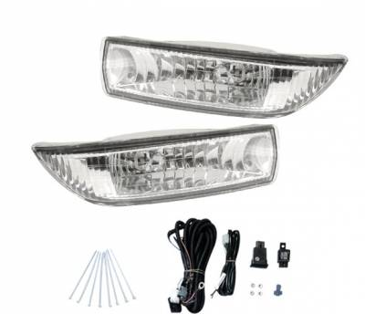 4 Car Option - Toyota Corolla 4 Car Option Fog Light Kit - Clear - LHF-TCL03