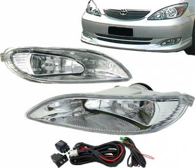 4 Car Option - Toyota Corolla 4 Car Option Fog Light Kit - Clear - LHF-TCM01