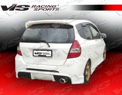 VIS Racing - Honda Fit VIS Racing Fuzion Rear Bumper - 07HDFIT4DFUZ-002