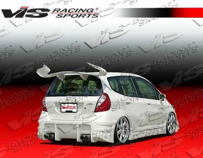 VIS Racing - Honda Fit VIS Racing Sense Rear Bumper - 07HDFIT4DSEN-002