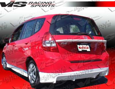 VIS Racing - Honda Fit VIS Racing Techno R-3 Rear Lip - 07HDFIT4DTNR3-012