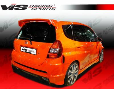 VIS Racing - Honda Fit VIS Racing Techno R Widebody Rear Bumper - 07HDFIT4DTNRWB-002