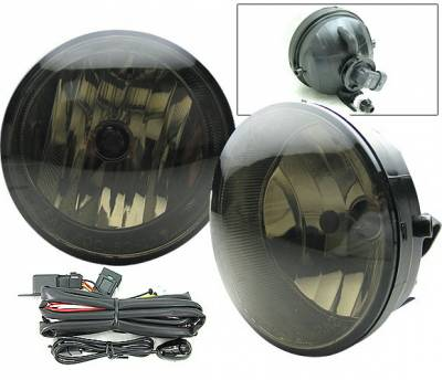 4 Car Option - Toyota Solara 4 Car Option Fog Light Kit with Switch - Smoke - LHF-TS04SM