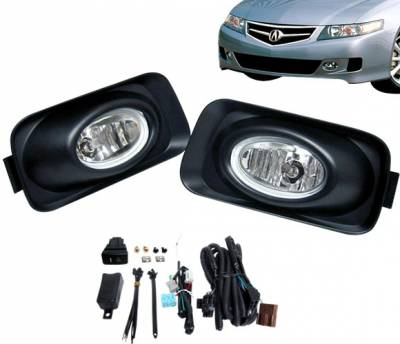 4 Car Option - Acura TSX 4 Car Option Fog Light Kit - Clear - LHF-TSX