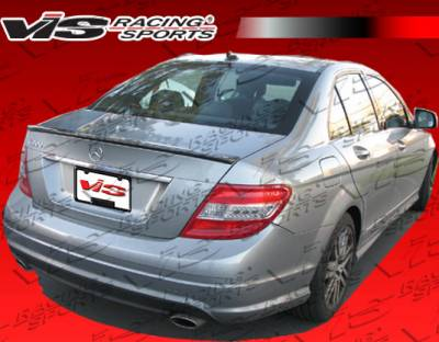 VIS Racing - Mercedes-Benz C Class VIS Racing Euro Tech Rear Bumper - 08MEW2044DET-002