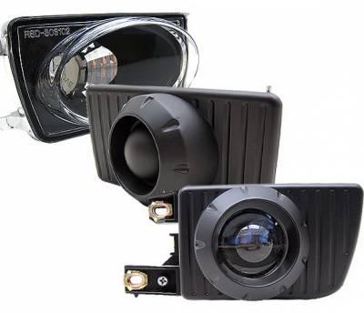 4 Car Option - Volkswagen Golf 4 Car Option Projector Fog Light Kit - Blue Lens - LHF-VG92B