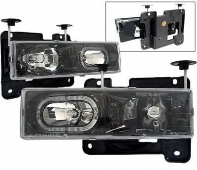 4 Car Option - Chevrolet C10 4 Car Option Halo Headlights - Black - LH-GC88BR-KS