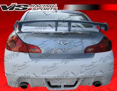 VIS Racing - Infiniti G37 VIS Racing K Speed Rear Bumper - 09ING374DKSP-002