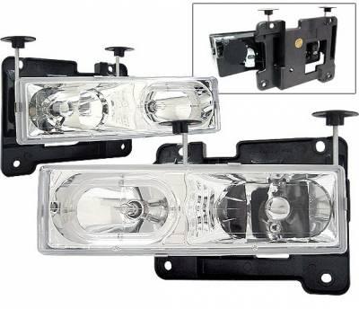 4 Car Option - Chevrolet C10 4 Car Option Halo Headlights - Chrome - LH-GC88CR-KS