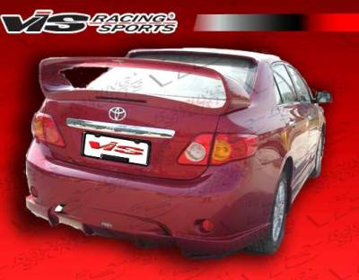 VIS Racing - Toyota Corolla VIS Racing AMS Rear Bumper - 09TYCOR4DAMS-002