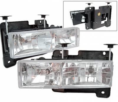 4 Car Option - GMC C10 4 Car Option Headlights - Chrome - LH-GC88-KS