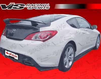VIS Racing - Hyundai Genesis VIS Racing Pro Line Rear Lip - Carbon Fiber - 10HYGEN2DPL-012C
