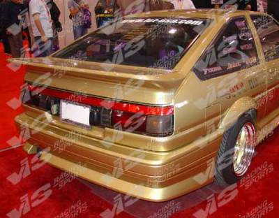 VIS Racing - Toyota Corolla VIS Racing V Speed Rear Bumper - 84TYCOR2DVSP-002