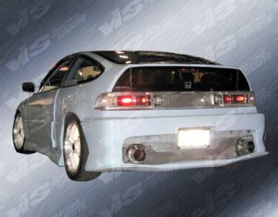 VIS Racing - Honda CRX VIS Racing TNR Flared Rear Bumper - 88HDCRXHBTRF-002
