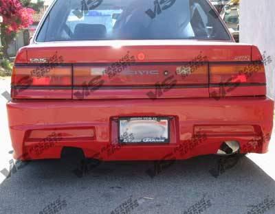 VIS Racing - Honda Civic 4DR VIS Racing Xtreme Rear Bumper - 88HDCVC4DEX-002