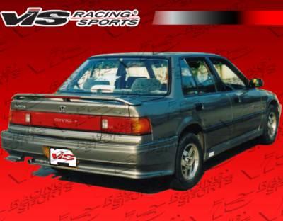 VIS Racing - Honda Civic 4DR VIS Racing Techno R Rear Bumper - 88HDCVC4DTNR-002