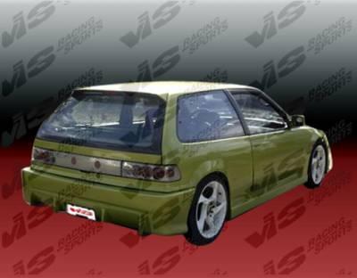 VIS Racing - Honda Civic HB VIS Racing TSC Rear Bumper - 88HDCVCHBTSC-002