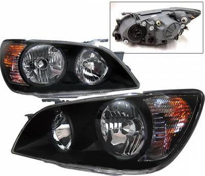 4 Car Option - Lexus IS 4 Car Option Headlights - Black - LH-LIS300B-KS
