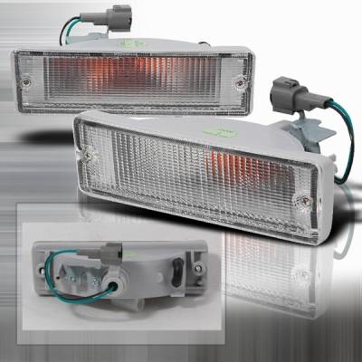 Custom Disco - Nissan Pickup Custom Disco Clear Bumper Lights - LB-NPIK88-KS
