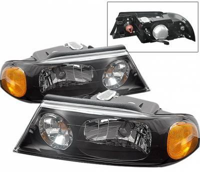 4 Car Option - Lincoln Navigator 4 Car Option Headlights - Black Clear - LH-LN98BC-KS