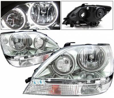 4 Car Option - Lexus RX 4 Car Option Halo Headlights - Chrome - LH-LRX301C-KS