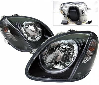 4 Car Option - Mercedes-Benz SLK 4 Car Option Headlights - Black - LH-MBSLK98B-DP