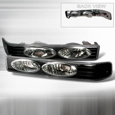 Custom Disco - Chevrolet S10 Custom Disco Black Euro Bumper Lights - LB-S1098JM-YD
