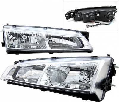 4 Car Option - Nissan 240SX 4 Car Option Headlights - Chrome - LH-N24097C-YD