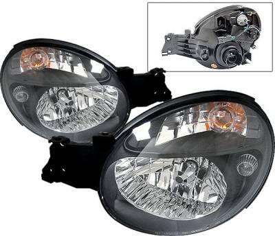 4 Car Option - Subaru Impreza 4 Car Option Morette Style Headlights - Black - LH-SI02B-KS