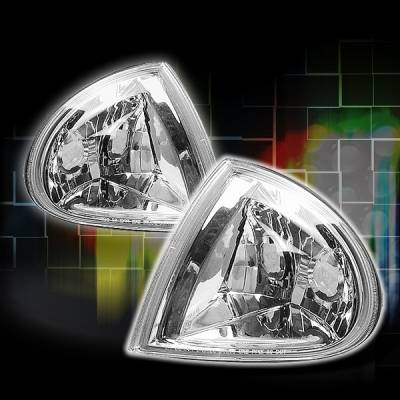 Custom Disco - Honda Del Sol Custom Disco Chrome Corner Lights - LC-DEL93-YD