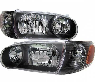 4 Car Option - Toyota Corolla 4 Car Option Corner Lights - Black - LH-TCL01B-KS