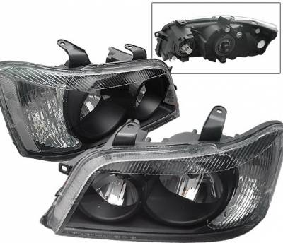 4 Car Option - Toyota Highlander 4 Car Option Headlights - Black Clear - LH-THL01BC-KS